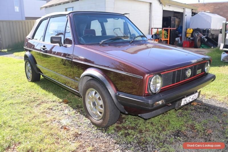 vw golf gti convertible mk1 1983 vwvolkswagen golf forsale rh pinterest ca