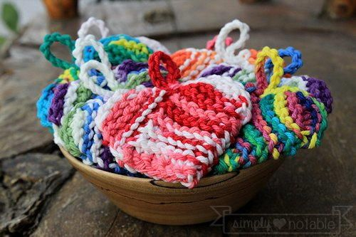 Free Hearted Washcloth Crochet Knitted Washcloth Patterns And