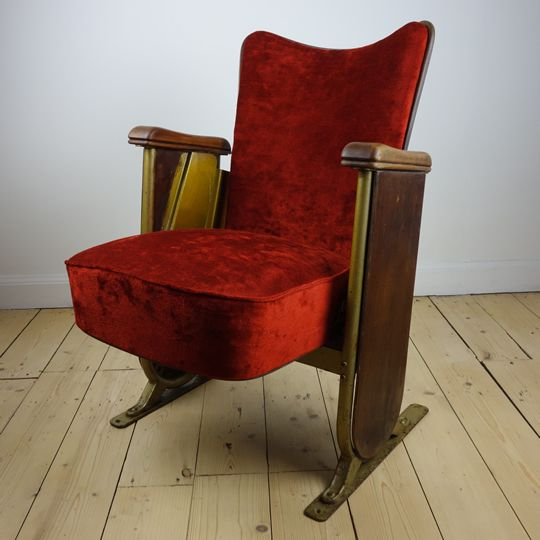 Cinema seat by Fibrocit, Vintage and
