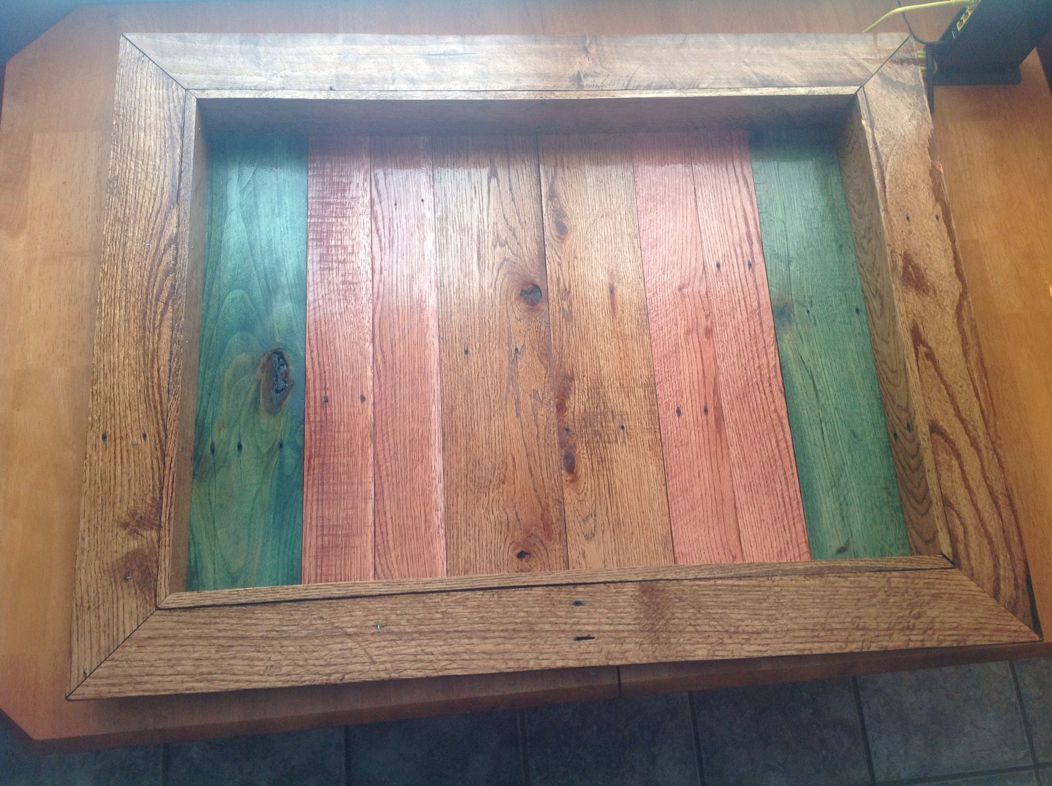 Pallet wood shadow box picture frame. | Wood shadow box ...