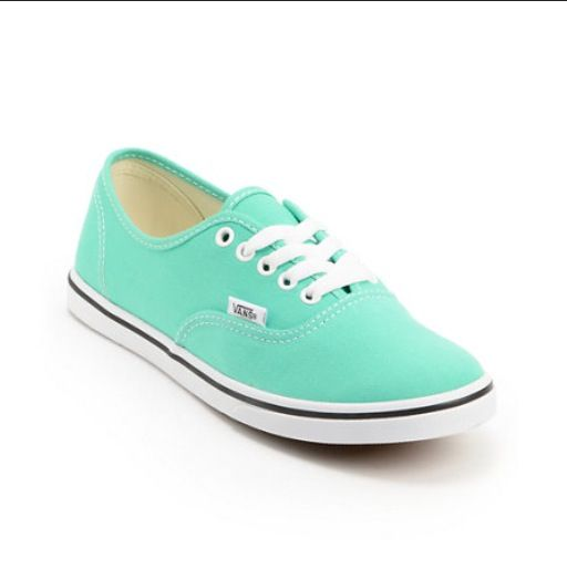 Sea green vans | White canvas shoes