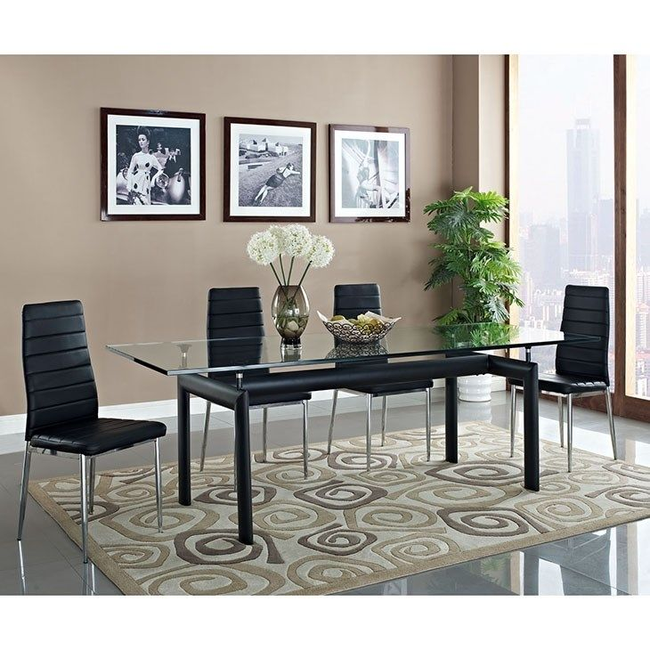 Charles Dining Table in Black Charles Dining