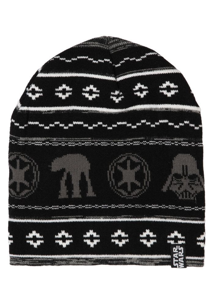 e8060f70638 STAR WARS Galactic Empire Holiday Exclusive Black Knit Beanie ...
