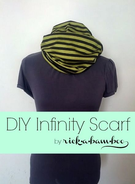 DIY Infinity Scarf {12 Weeks of Scarves – Week 5} | rickabamboo.com | #DIY #scarf