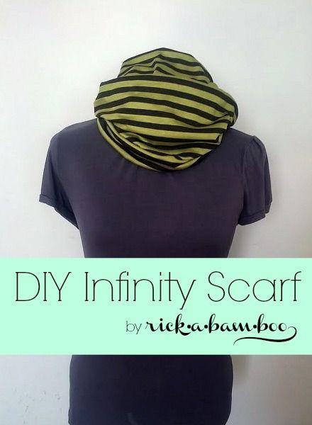DIY Infinity Scarf {12 Weeks of Scarves – Week 5} | rickabamboo.com | #DIY #scarf