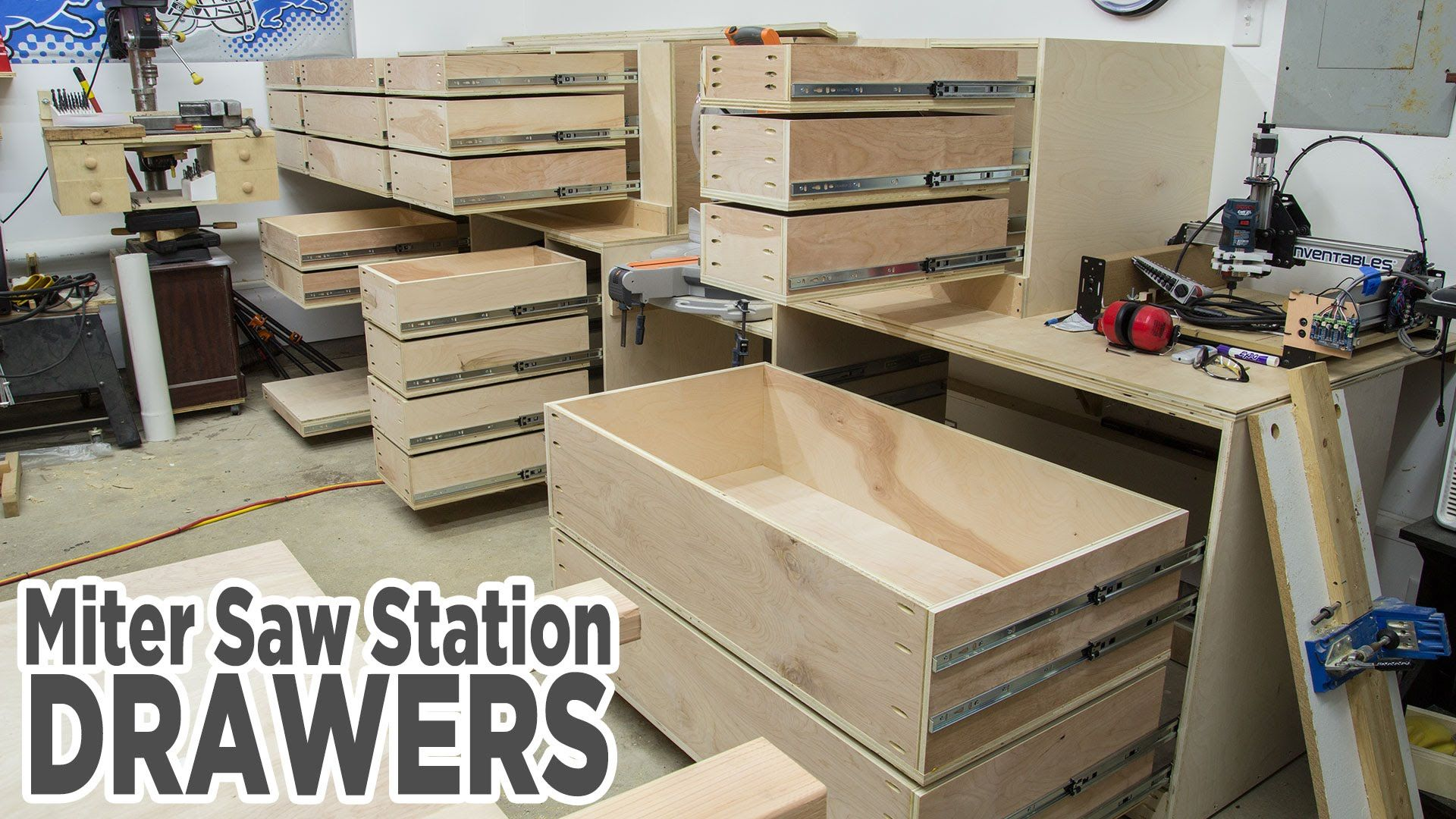 Miter Saw Station Storage Drawers 195