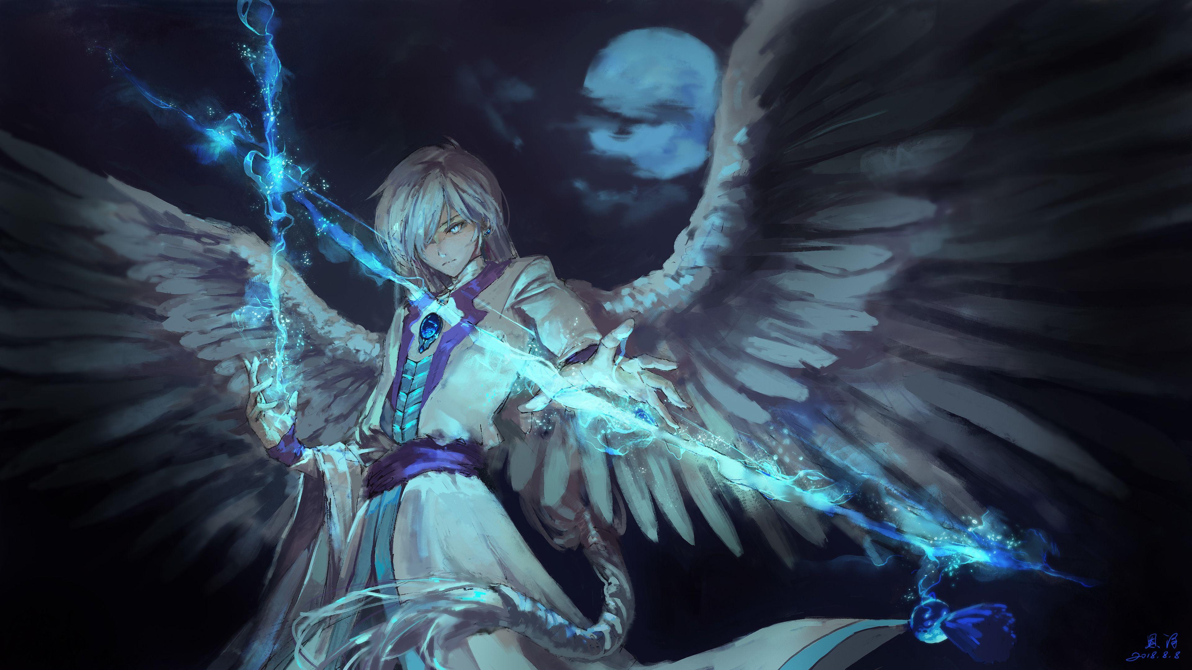 Anime Angel Boy With Magical Arrow Hd Wallpapers Anime Wallpapers 4k Wallpapers Anime Angel Cardcaptor Sakura Anime Angel Girl