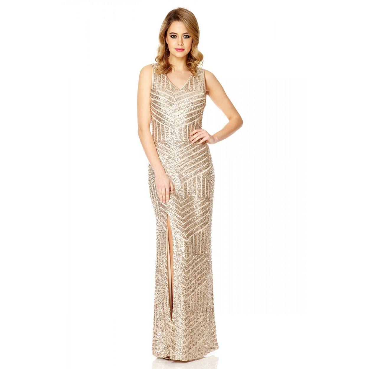 Quiz champagne sequin zig zag split maxi dress at debenhams quiz champagne sequin zig zag split maxi dress at debenhams ombrellifo Gallery