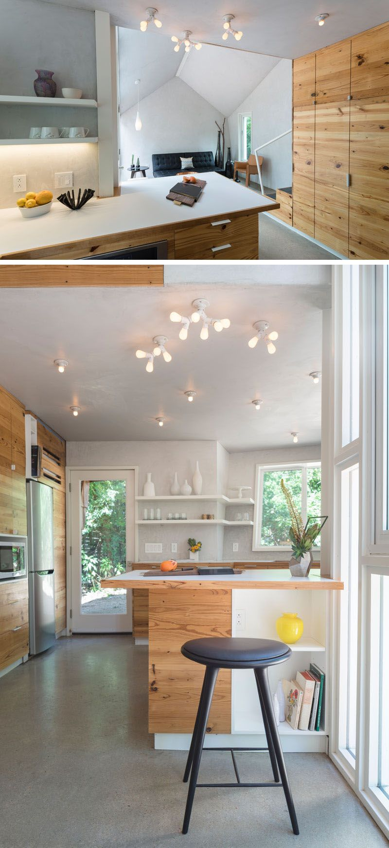 shingle clad angled walls were used in the design of this small rh pinterest com