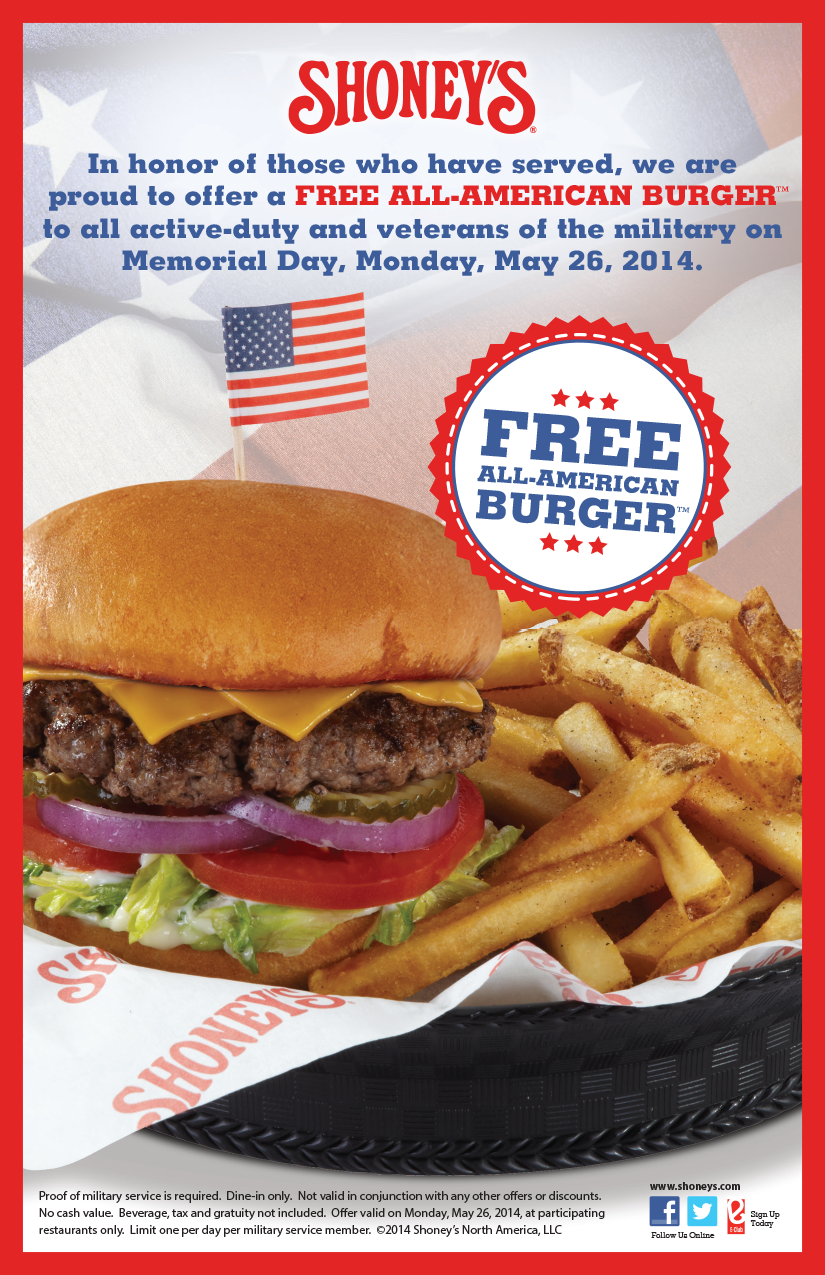 Saving 4 A Sunny Day: Free Burger For Military