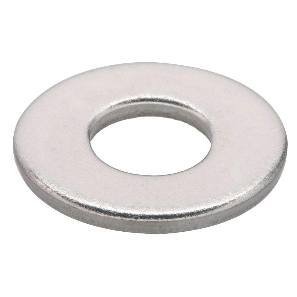 Crown Bolt 10 Stainless Steel Flat Washer 50 Pieces 32482 The Home Depot Flat Washer Diy Barn Door Hardware 316 Stainless Steel