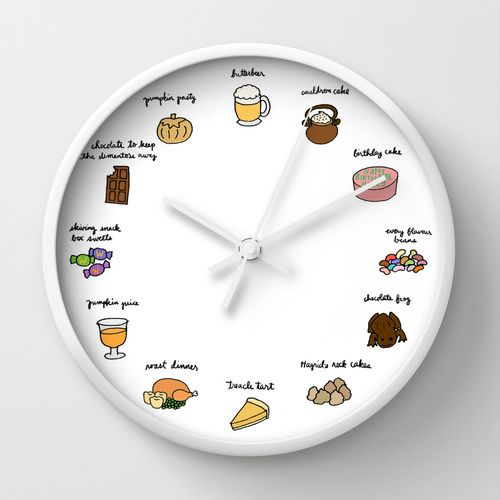 Foods of Harry Potter Wall Clock