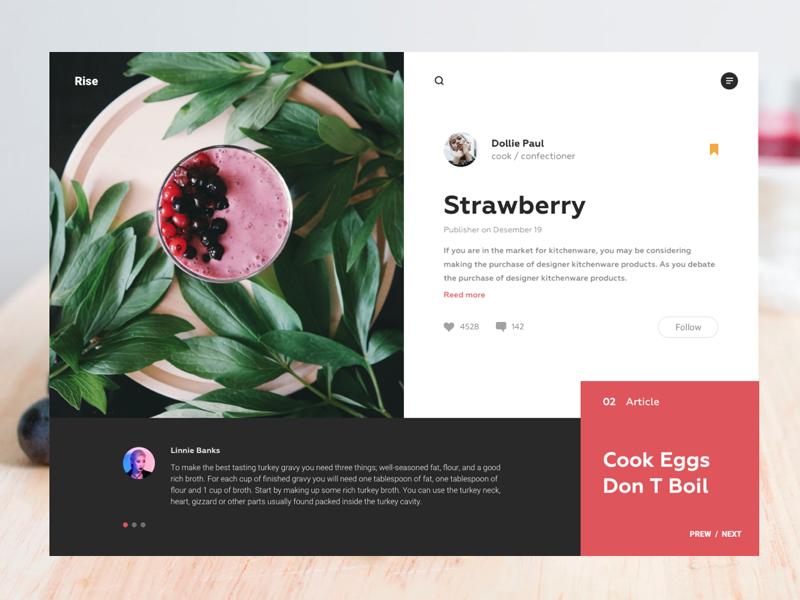 Rise Strawberry Blog Web Design Inspiration Design Strawberry