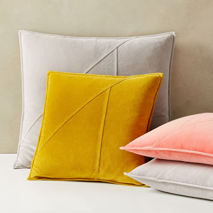 Washed Cotton Velvet Pillow Covers