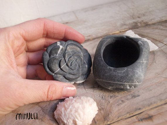 RESERVED rose ring box hand engraved stony jewelry by Mihulli