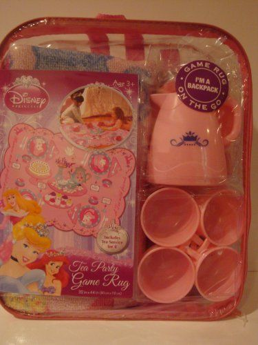 Disney Princess Tea Party Service For 4 Game Rug 32in X