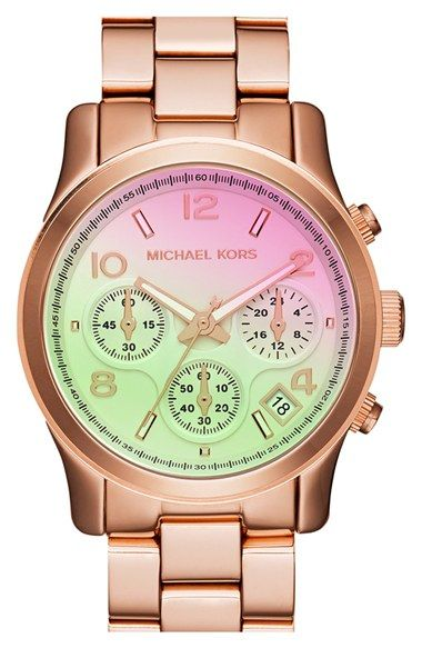 MICHAEL Michael Kors Michael Kors 'Pink Catwalk' Chronograph Watch, 39mm available at #Nordstrom