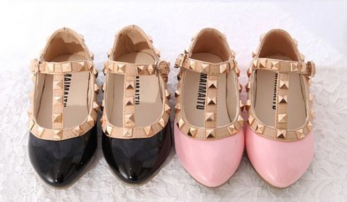 Valentino inspired shoes for little girls.