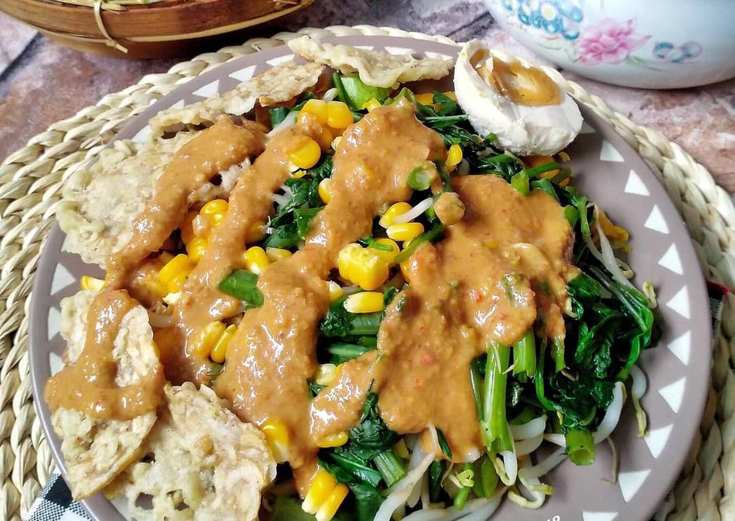 Resep Gado Gado Siram Oleh Susan Mellyani Resep Resep Rebusan Kacang