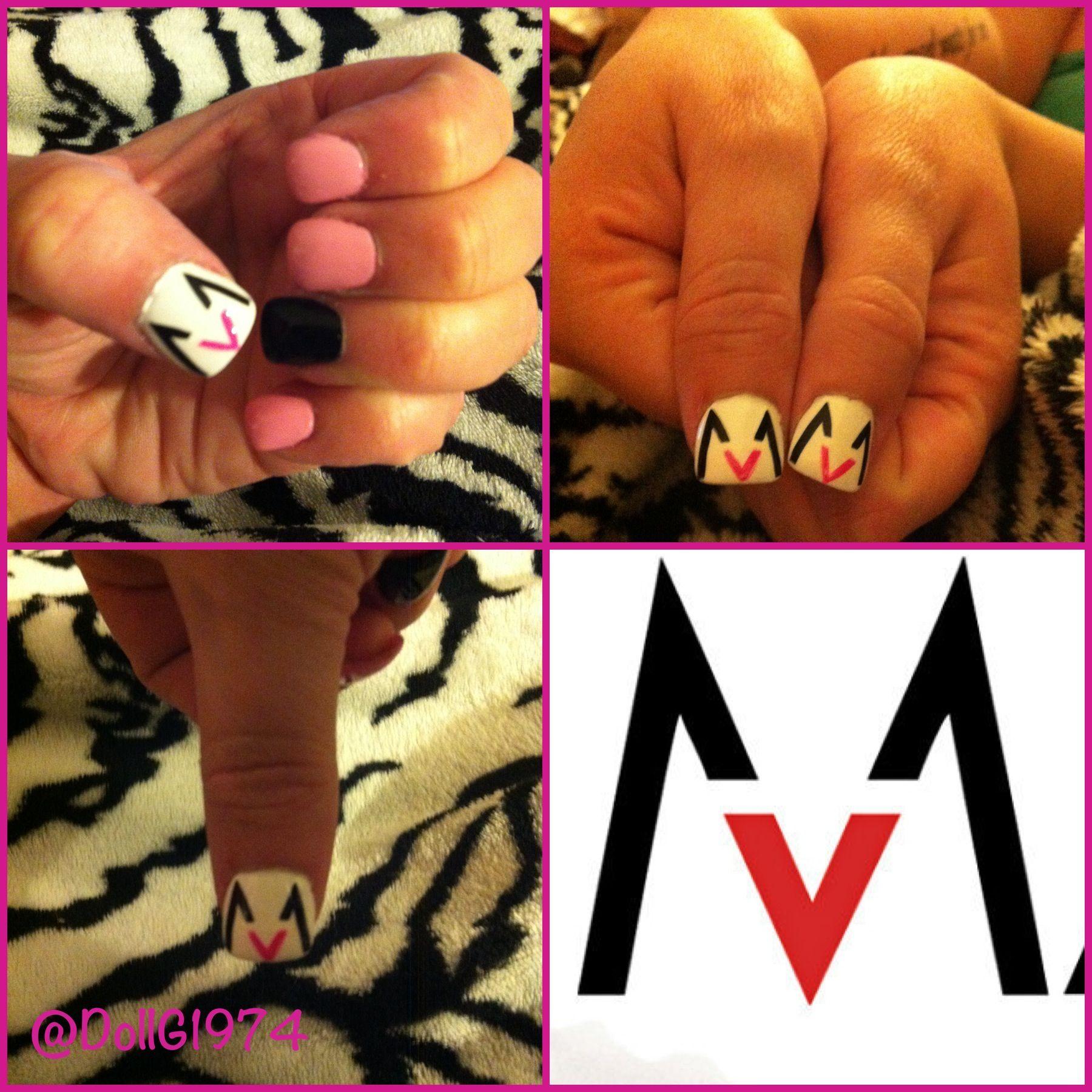 My Maroon 5 inspired nails. (Amazing nail tech Anne, at G Spa Nails ...
