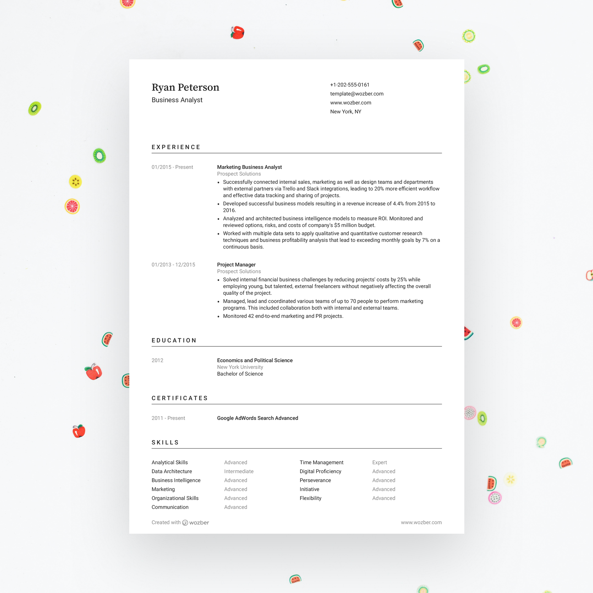 Free modern and customizable resume template! You can
