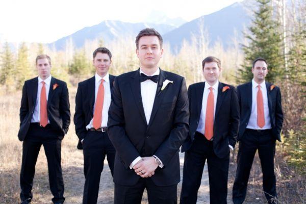 Rustic Orange Slate Grey Wedding In Canmore