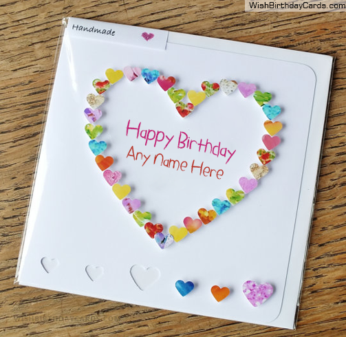 Beautiful Handmade Heart Birthday Card For Sister Hbd Wishes
