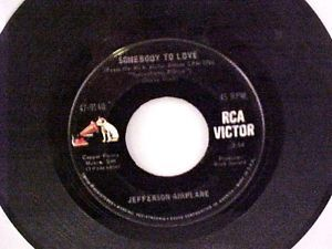 """RCA Victor Jefferson Airplane """"Somebody To Love"""" 45 RPM Record 47-9140"""