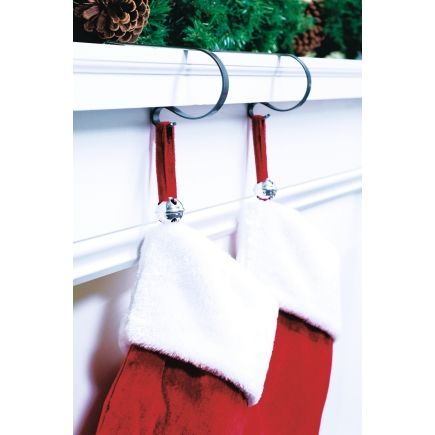 Haute Decor Silver Hangright Stocking Adjusters 4 Pack Hrb0404 Interior Home Decor Hanging Stockings Decor Stocking Holders