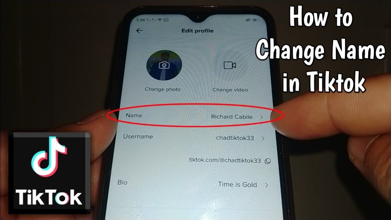 How To Change Name In Tiktok In 2021 How To Change Name Names Changing Your Name