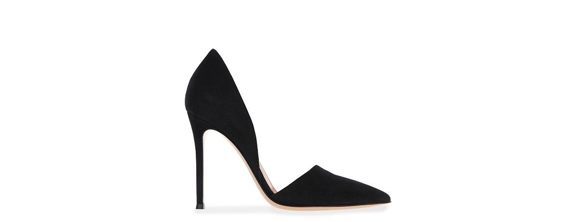 Exclusive CHARP Side Cut Out Pumps Black  In Shoes