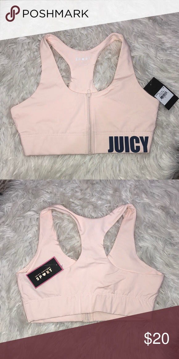 1dcaa1a972 NWT Juicy Couture zip front soft pink bra sz small NWT
