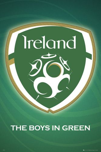 Republic Of Ireland National Football Team Official Crest Poster Gb Eye National Football Teams Ireland Rugby Ireland