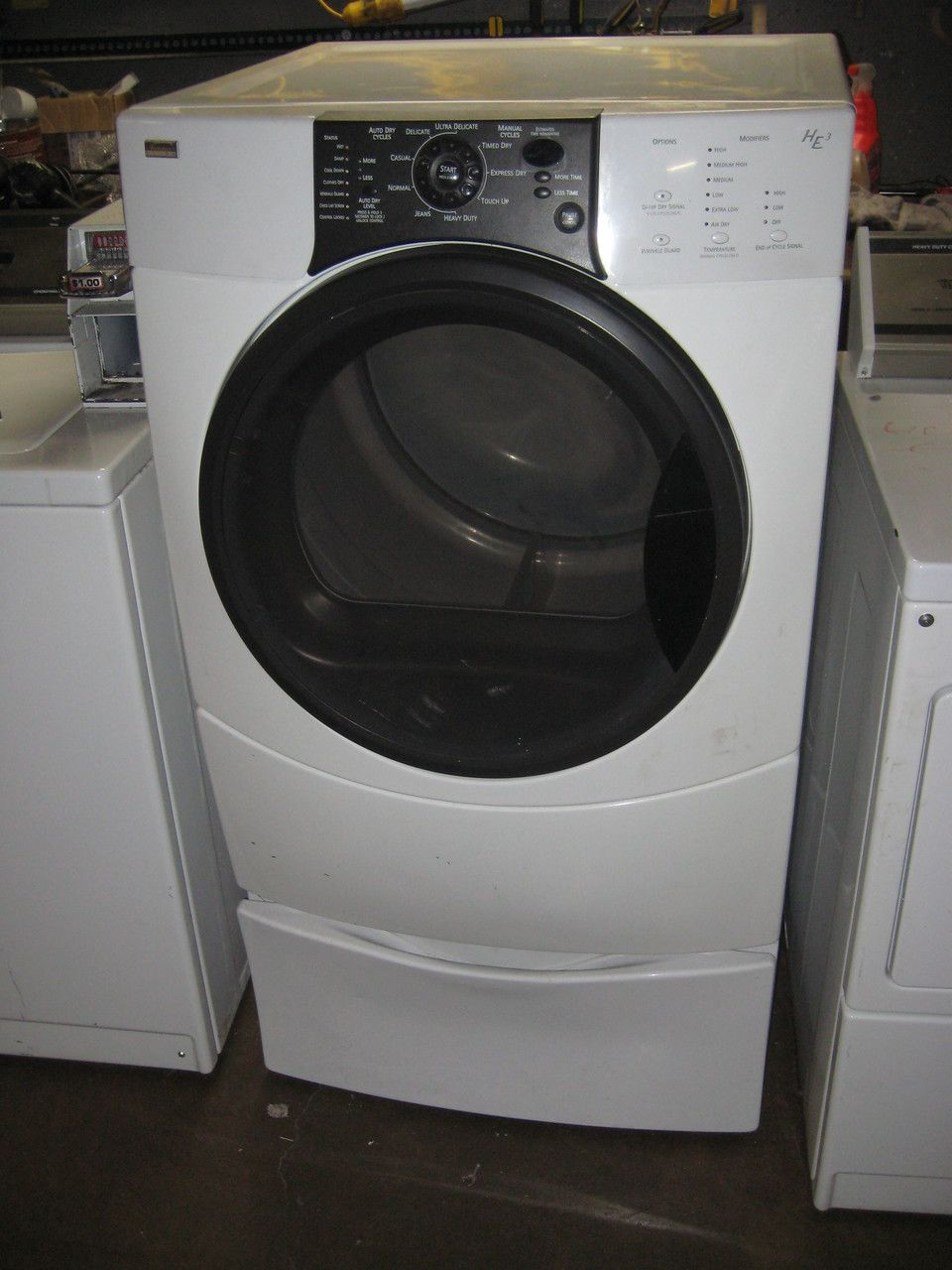 kenmore elite washer and dryer white. appliance city - kenmore elite by whirlpool he3 front load gas dryer pedestal drawer loaded with options 9 cycle ( 6 auto, 3 manual) white , $549.00 kenmore elite washer and dryer white