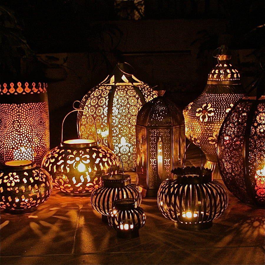Party decoration ideas moroccan metal lantern - Fancy Full Moon Moroccan Lantern London Garden Trading Company On Imgfave
