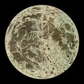 Astronomy Moon Print - zephyrus_books - Spoonflower