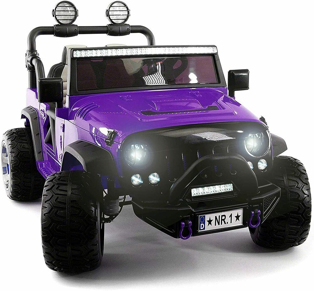 Kids Ride On Wild Jeep Battery Powered Car 12 Volt Children Electric Toy Purple Unbranded In 2020