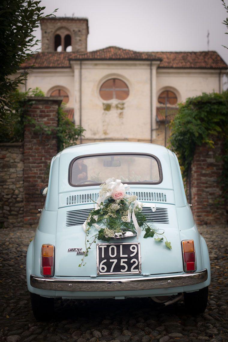 Wedding car flower decoration images  Fiat  David Fattibene  Fiat  pervert  Pinterest  Fiat