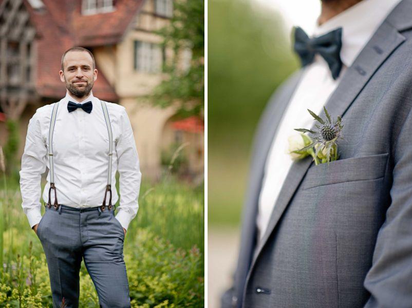 Details Hochzeitsanzug in graublau fr einen Brutigam  Vintage Anzge Brutigam in 2019