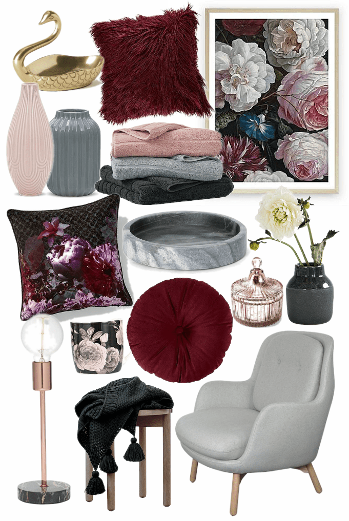Warm And Cozy Dining Room Moodboard: The Romance Trend Is Still Going Strong In 2019