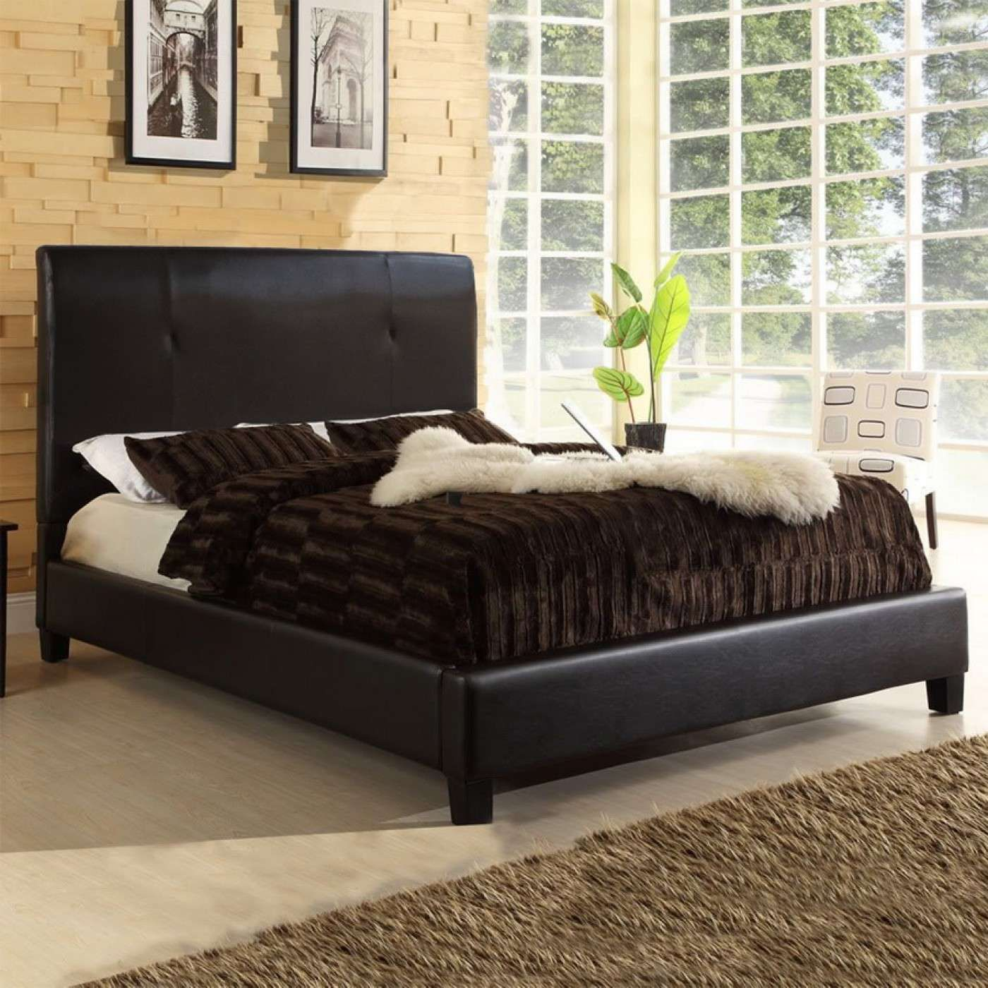 Cambridge Dark Brown Full Size Bed Baxton Studio Pinterest  # Muebles Tio Sam
