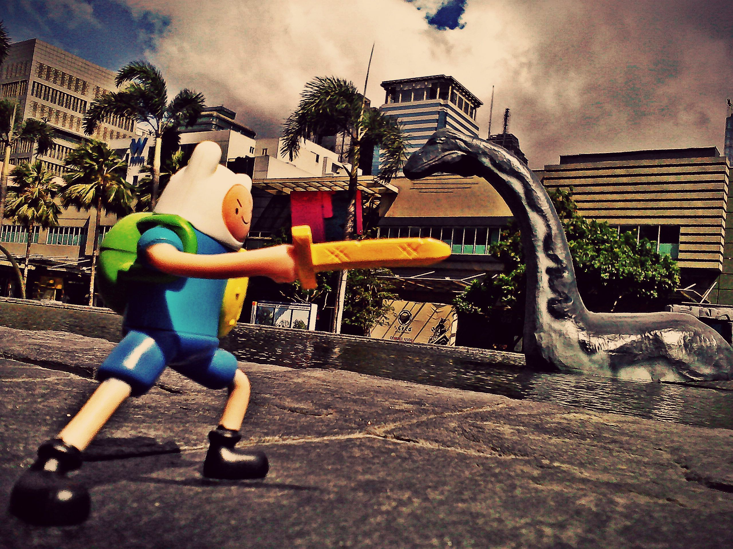 Adventure Time Toy Finn vs Loch Ness Monster