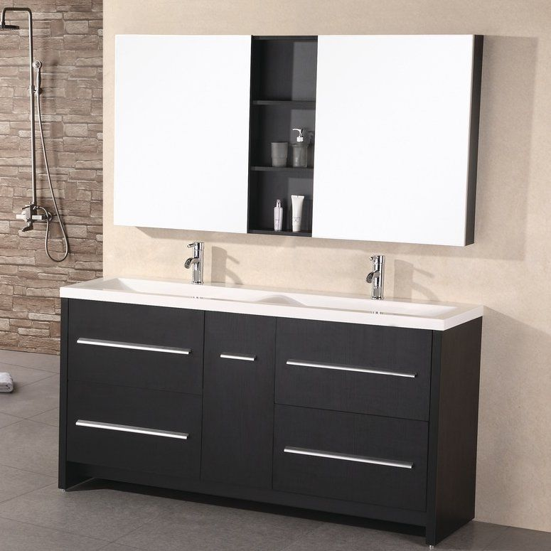 Royal 63 Double Bathroom Vanity Set With Mirror Bathroom Sink