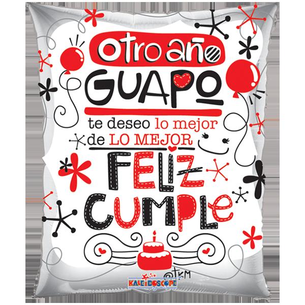 Globo metalizado  Junior  Shape Guapo y Guapa 24