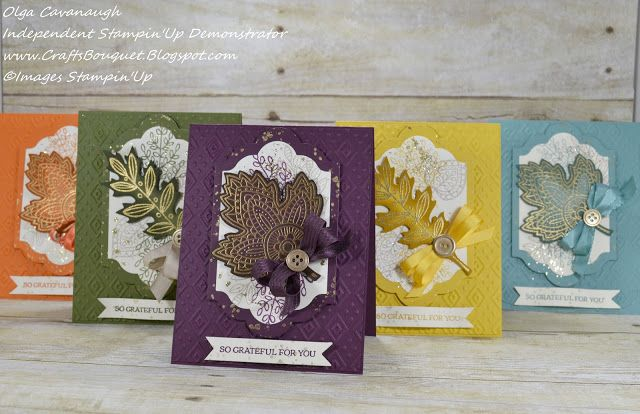 Crafts Bouquet: Stampin'Up Lighthearted Leaves Card Set and Baker's Box