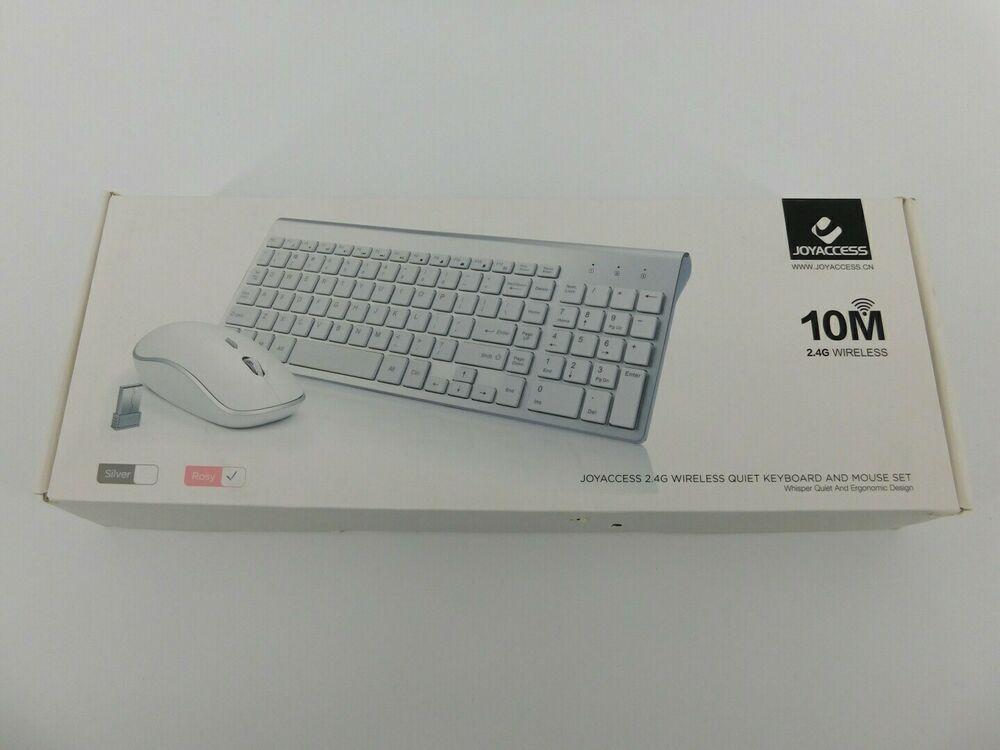 Wireless Keyboard and Mouse Combo,J JOYACCESS 2.4G Slim wireless keyboard mouse