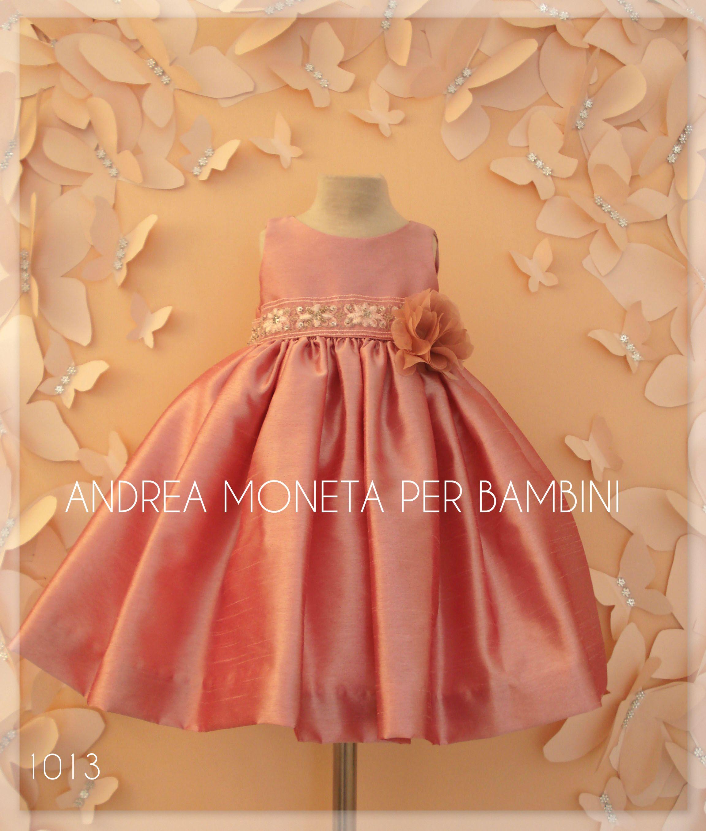 f296d21f7 👗🎉Hermoso vestido en Shantung Dupioni rosa viejo con flores de ...
