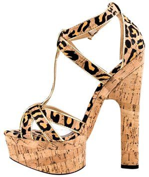 Bebe Fabiana Animal Print, Natural Com Platforms $65