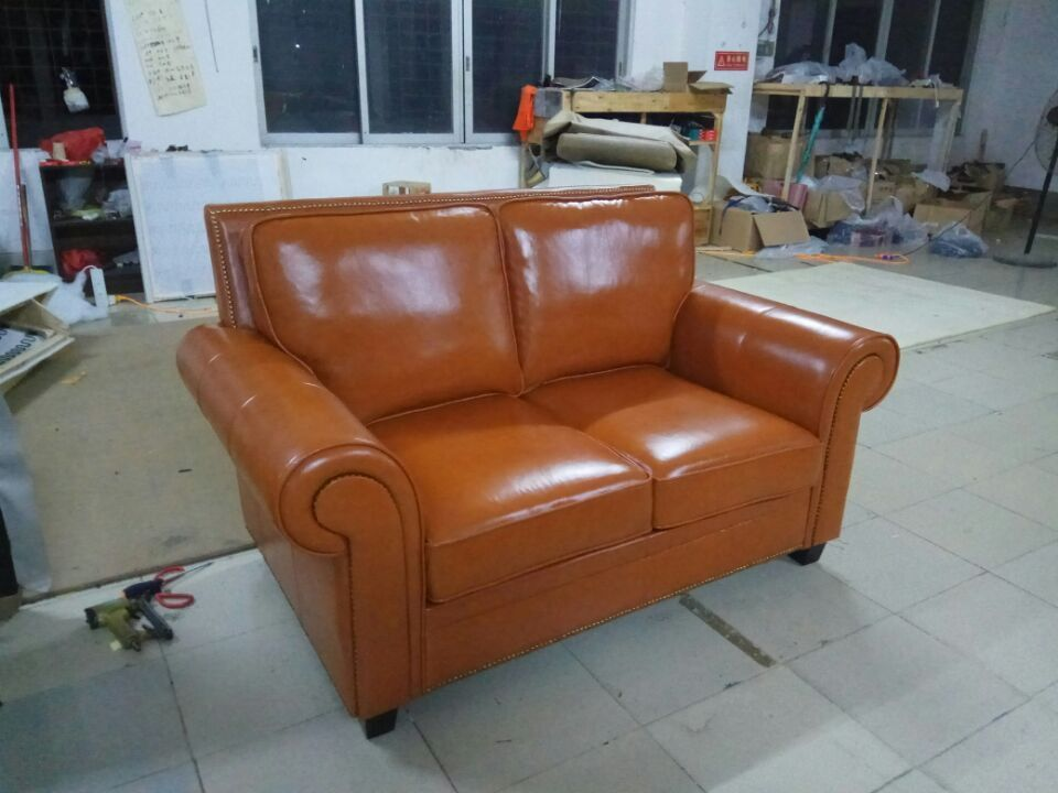 high quality cow top graded real genuine leather sofa