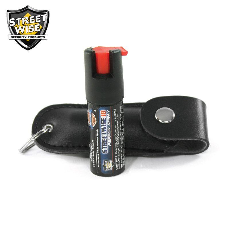 Lab Certified Streetwise 18 Pepper Spray, 1/2 oz. Soft case BLACK